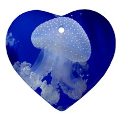 Spotted Jellyfish Ornament (heart)