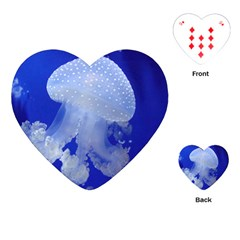 Spotted Jellyfish Playing Cards (heart)