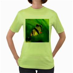 Tiger Barb Women s Green T Shirt
