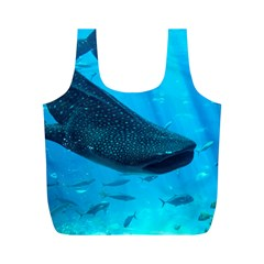 Whale Shark 2 Full Print Recycle Bags (m)