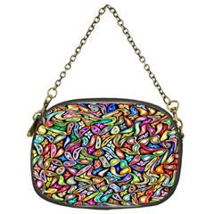 Artwork By Patrick Colorful 6 Chain Purses (one Side)