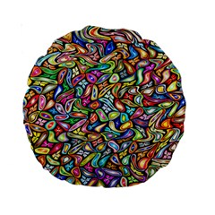 Artwork By Patrick Colorful 6 Standard 15  Premium Round Cushions
