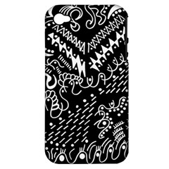 Chicken Hawk Invert Apple Iphone 4/4s Hardshell Case (pc+silicone)