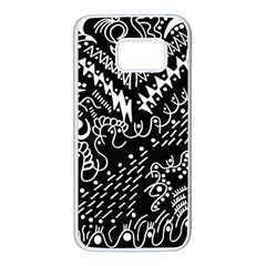 Chicken Hawk Invert Samsung Galaxy S7 White Seamless Case