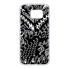 Chicken Hawk Invert Samsung Galaxy S7 Edge White Seamless Case