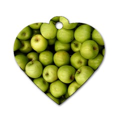 Apples 3 Dog Tag Heart (two Sides)
