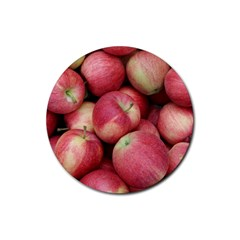 Apples 5 Rubber Coaster (round)