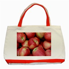 Apples 5 Classic Tote Bag (red)