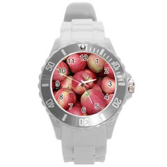 Apples 5 Round Plastic Sport Watch (l)