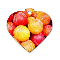 Apricots 1 Dog Tag Heart (one Side)