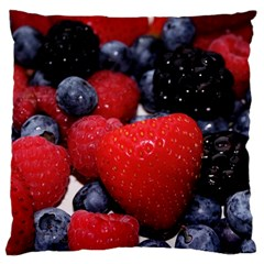 Berries 1 Large Flano Cushion Case (one Side)