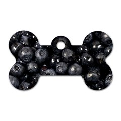 Blueberries 1 Dog Tag Bone (two Sides)
