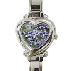 Blueberries 2 Heart Italian Charm Watch