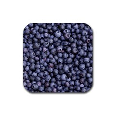 Blueberries 3 Rubber Coaster (square)