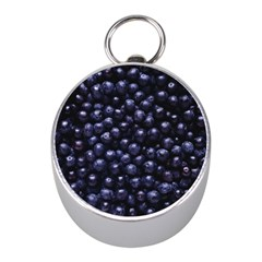 Blueberries 4 Mini Silver Compasses