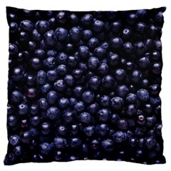 Blueberries 4 Large Flano Cushion Case (two Sides)