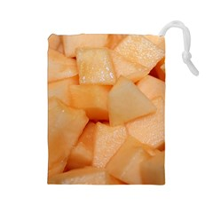 Cantaloupe Drawstring Pouches (large)