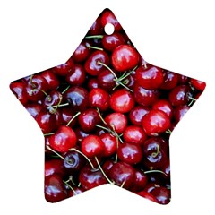 Cherries 1 Star Ornament (two Sides)