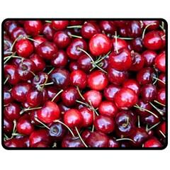 Cherries 1 Fleece Blanket (medium)