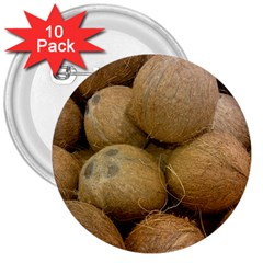 Coconuts 2 3  Buttons (10 Pack)