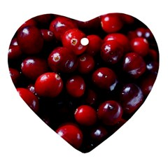 Cranberries 1 Heart Ornament (two Sides)
