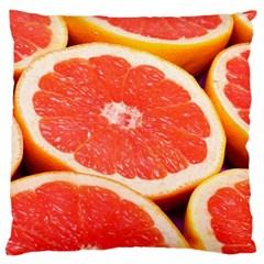 Grapefruit 1 Large Cushion Case (one Side)
