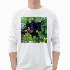 Grapes 3 White Long Sleeve T Shirts