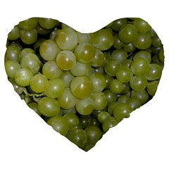 Grapes 5 Large 19  Premium Flano Heart Shape Cushions
