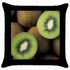 Kiwi 2 Throw Pillow Case (black)