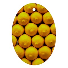 Lemons 1 Oval Ornament (two Sides)