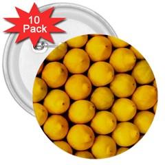 Lemons 2 3  Buttons (10 Pack)