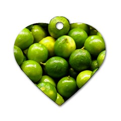 Limes 1 Dog Tag Heart (two Sides)