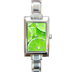Limes 2 Rectangle Italian Charm Watch