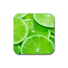 Limes 2 Rubber Square Coaster (4 Pack)