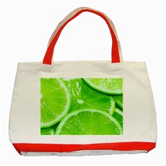 Limes 2 Classic Tote Bag (red)
