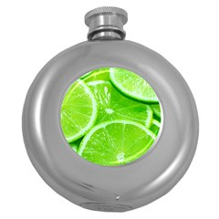 Limes 2 Round Hip Flask (5 Oz)