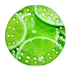 Limes 2 Ornament (round Filigree)