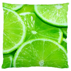 Limes 2 Large Flano Cushion Case (two Sides)