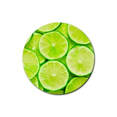 Limes 3 Rubber Round Coaster (4 Pack)