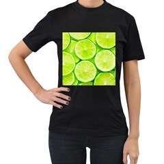 Limes 3 Women s T Shirt (black) (two Sided)