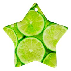 Limes 3 Star Ornament (two Sides)