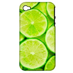 Limes 3 Apple Iphone 4/4s Hardshell Case (pc+silicone)