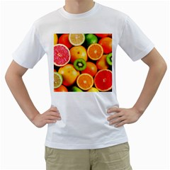 Mixed Fruit 1 Men s T Shirt (white) (two Sided)