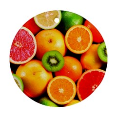 Mixed Fruit 1 Round Ornament (two Sides)