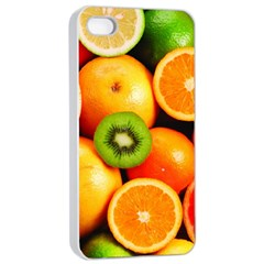 Mixed Fruit 1 Apple Iphone 4/4s Seamless Case (white)