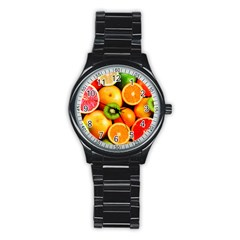 Mixed Fruit 1 Stainless Steel Round Watch