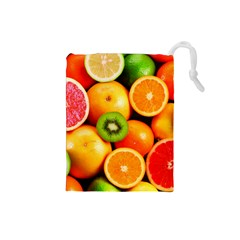 Mixed Fruit 1 Drawstring Pouches (small)