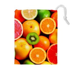 Mixed Fruit 1 Drawstring Pouches (extra Large)