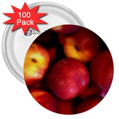 Nectarines 3  Buttons (100 Pack)