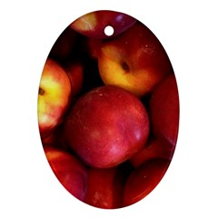 Nectarines Oval Ornament (two Sides)